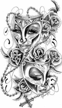 - Tattoos For Men - Tatouage Dope Tattoos, Chicano Tattoos, Bild Tattoos, Badass Tattoos, Pretty Tattoos, Beautiful Tattoos, Body Art Tattoos, Tattoos For Guys, Floral Skull Tattoos