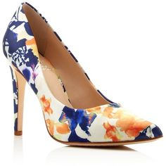 Vince Camuto Kain Floral Print Pointed Toe High Heel Pumps (£71) ❤ liked on Polyvore featuring shoes, pumps, heels, purple multi, purple pointy toe pumps, pointed toe high heel pumps, pointy-toe pumps, vince camuto shoes and purple pointed toe pumps