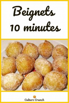 Beignets, Mini Muffins, Dessert Table, Biscuits, Food Hacks, Sweet Tooth, Good Food, Brunch, Appetizers