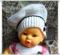 Gorro de Chef  em Croch� ,