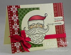 It's my turn for Preview Week at Create with Connie & Mary. Leave a comment on my blog for a chance to win a FREE SUBSCRIPTION! Stampin' Up! Santa Stache. Debbie Henderson, Debbie's Designs.
