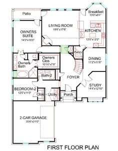 House Plans With Media Room first floor plan : house plan # 1706-200 : tradional brick front