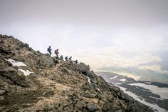 Hikers descend Mt Damavand, the highest peak in the Middle East. Photograph by Dietmar Denger. Laif, Redux