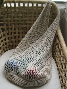 knit market bag: Knitted in Sublime DK and pattern from lionbrand