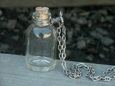 DIY Keepsake Empty Bottle Necklace by InkandRoses13. Love that I can fill it with anything I choose!!