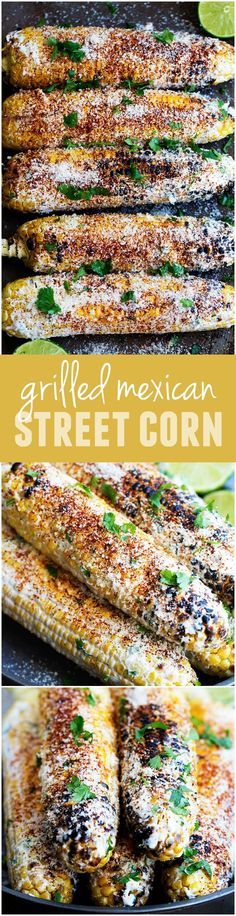 This Grilled Mexican Street Corn is full of so many amazing flavors! The BEST corn that I have ever had! (Baking Eggs Asparagus)
