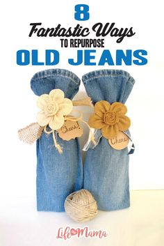 Get out those craft scissors and repurpose your favorite denim into a fantastic memento for your home. Here are great ways to repurpose your old jeans.