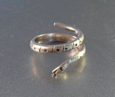 Sterling Snake Ring Coiled Open Mouth Size 5.5