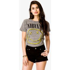 FOREVER 21 Nirvana© Tee ($15) ❤ liked on Polyvore