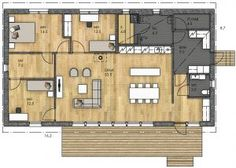 House On A Hill, Open Concept, House Plans, Sweet Home, New Homes, Floor Plans, How To Plan, Architecture, Interior