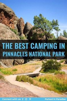Camping in Pinnacles National Park. Located 1.5 hours south of San Jose, California. Complete guide for best camping spots for RVs or tents. Amazing hikes to see some bat caves. Unique photography of these amazing rock formations. So many things to do with kids or friends. Pinnacles National Park Camping, Camping Spots, Rock Formations, 5 Hours, San Jose, Caves, Tents, Climbing, Things To Do