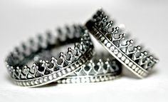 Antique crown ring. sterling silver ring. Queens crown ring. stack ring. the perfect mothers day gift under 50. for her. love mom.. $30.00, via Etsy.