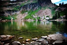 Cecret Lake. Moderate hike up Big Cottonwood Canyon. Came across a couple big ol' Bull Moose (visit the link for pics).
