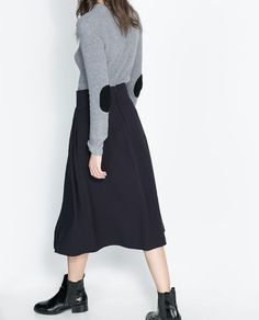 ZARA - NEW THIS WEEK - SWEATER WITH RIBBED HIGH NECK