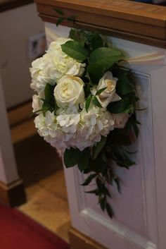 White hydrangea and Polo Rose