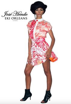 New designer collaboration Hazel Aggrey-Orleans of @ekiorleans w/ @josehendo Amazing designs! http://www.africafashionguide.com/2015/05/jose-hendo-eki-orleans-reveal-their-latest-aw-collection-identity/