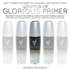 Younique Glorious Face & Eye Primer creates a flawless canvas as it enhances the skin's texture, and primes and prepares the skin for premi...