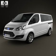 Ford Tourneo Custom SWB 2012 3d model from humster3d.com. Price: $75
