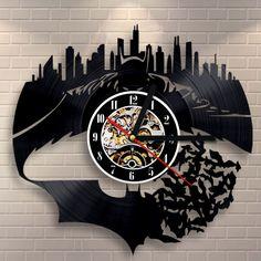 14c94ff715d 1 Piece frete Grátis Batman Vintage Relógio Decoração Da Parede Design  Moderno Relógio Arte Decorativa Da