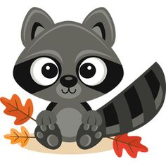 Fall Raccoon SVG scrapbook cut file cute clipart files for silhouette cricut pazzles free svgs free svg cuts cute cut files Felt Animals, Baby Animals, Cute Animals, Tribal Animals, Woodland Creatures, Woodland Animals, Animal Drawings, Cute Drawings, Animal Cutouts