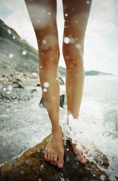 sea water splashing around your feet!