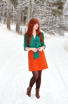 THE RUFFLE HOUSE: Red-head Street Style // COLOR BLOCKED