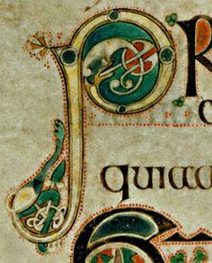 Book of Kells Illuminated Capital