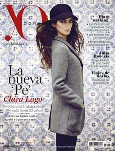 Clara Lago in Emporio #Armani on the cover of Yo Dona