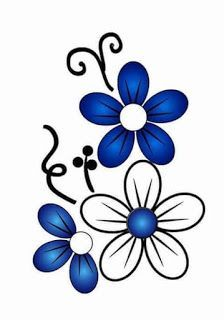 Daisies, butterflies, flowers and more coloring pages for Spring! Hand Embroidery Designs, Embroidery Patterns, Machine Embroidery, Flower Images, Flower Art, Painted Flower Pots, Fabric Painting, Easy Drawings, Rock Art