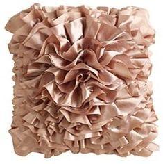 Ruffle pillow - Pier One Imports Blush Pillows, Accent Pillows, Throw Pillows, Blush Throw, Contemporary Decorative Pillows, Ruffle Pillow, Fru Fru, Pillow Sale, Blush Color