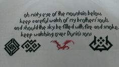The Hobbit, cross stitch, Lord of the Rings, Smaug