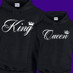 King and Queen Hoodies king and queen shirts King by ArmadilloTees