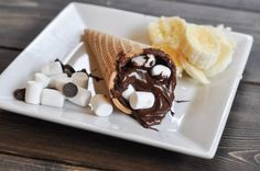 Campfire cones - so delicious and perfect for parties or the campsite! Suburble.com