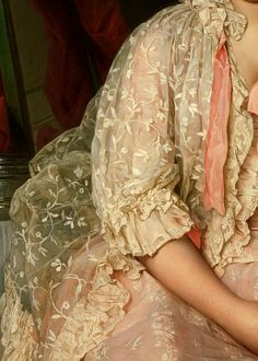 Traveling through history of Art...'Madame de Saint-Maurice', detail, by Joseph Siffred Duplessis, 1776, The Metropolitan Museum of Art.
