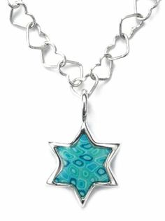 Bat Mitzvah Gifts - http://www.bmmagazine.com/home/mitzvah-store/bar-bat-mitzvah-gifts - Jewish Jewelry - Turquoise Star of David Necklace Charm Pendant - Sterling Silver Handmade Polymer Clay Judaica Gifts from Israel Adina Plastelina Handmade Jewelry,http://www.amazon.com/dp/B009L2QMIC/ref=cm_sw_r_pi_dp_9omOsb106J1M55Z1