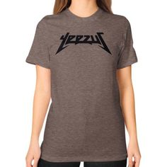 Yeezus Shirt Unisex T-Shirt (on woman)