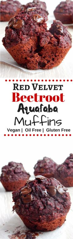 A healthy muffins that's full of all that 'red velvetness', it's vegan, oil-free and gluten free, and is made with a little magical ingredient - Beetroot!