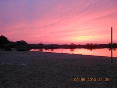 A suncet on Volga