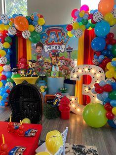 Baby Birthday Themes, Baby Boy Themes, 3rd Birthday Parties, 4th Birthday, Birthday Party Decorations, Birthday Ideas, Pierre Marie, Paw Patrol Birthday, First Birthdays