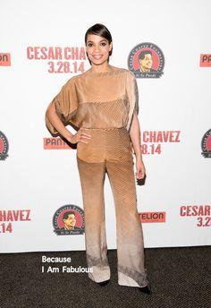 Fabulously Spotted: Rosario Dawson Wearing Diane von Furstenberg - 'Cesar Chavez' New York Special Screening - http://www.becauseiamfabulous.com/2014/03/rosario-dawson-wearing-diane-von-furstenberg-cesar-chavez-new-york-special-screening/