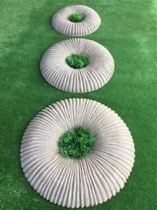 Set of 3 Decorative Donut Stone Moulds Molds Garden Path Circle Concrete Cement Stepping Stone Pathway, Concrete Cement, Outdoor Living, Outdoor Decor, Garden Ornaments, Garden Paths, Donuts, Garden Ideas, Stones