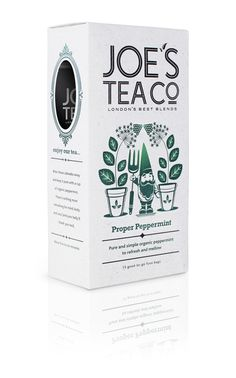 The Creative Pie: Best Of British, Joe's Tea Packaging By Echo Brand Design