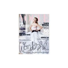 Vogue Magazine ❤ liked on Polyvore featuring magazine, people, backgrounds and photos