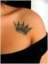 krone tattoo on shoulder girl - Sök på Google
