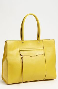 Rebecca Minkoff Mab Leather Tote in Yellow (end of color list sunny) - Lyst