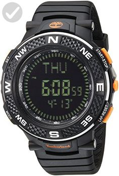 Timberland Men's TBL15027XPB02PA MENDON Digital Display Analog Quartz Black Watch - Mens world (*Amazon Partner-Link)