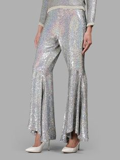 ASHISH ASHISH WOMEN'S SILVER SPARKLING TROUSERS. #ashish #cloth #trousers