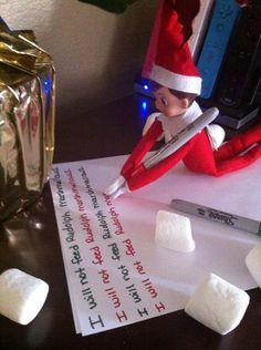 Elf on the Shelf idea - Elf writing standards
