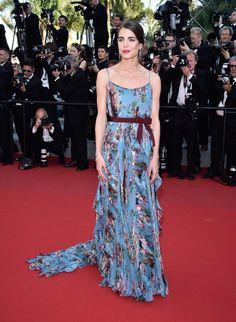 Charlotte Casiraghi en robe Gucci de la collection automne-hiver 2015-2016 et bijoux Montblanc