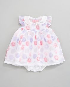 Printed Ruffle Voile  Dress by Armani Junior at Neiman Marcus.